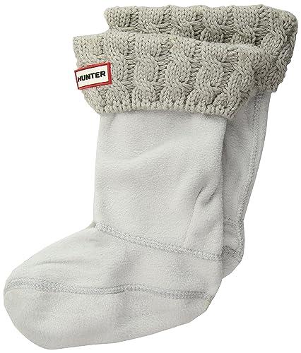 Originales calcetines altos para botas para niños de Hunter 6Stch cable crudo, todo el año, Niñas, color Grau (Greige), tamaño M: Amazon.es: Zapatos y ...