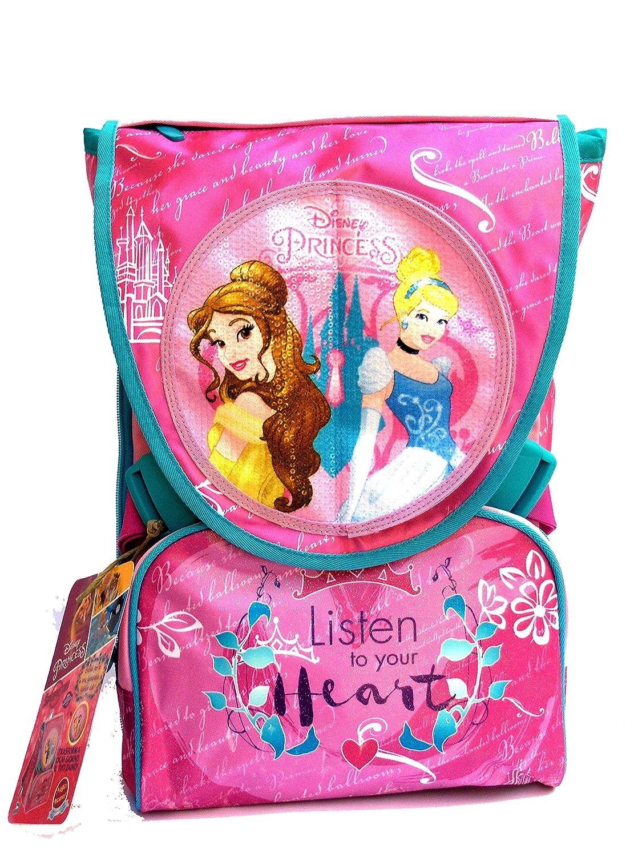 Zaino Principesse Disney new 2017 - zaino sdoppiabile Big Seven - Pattina Sfogliabile - 28 Lt - Schoolpack + ASTUCCIO 3 Scomparti + Bambola Arielle inclusa SEVEN JUNIOR