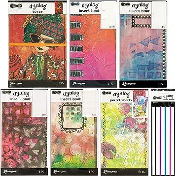 Ranger DYT60550 Dyan Revelrys Dylusions Dyalog Notebook Elastic Bands 4 Per Pack Multicolor