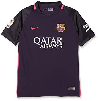 Nike 777027-524, Camiseta Fútbol Club Barcelona Infantil, Multicolor (Purple Dynasty/