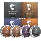 Beard Balm Conditioner 4 Pack - Natural Variety Leave-in Conditioner Wax Butter Gift set for Men - Unscented, Sandalwood…
