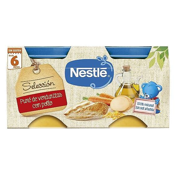 Nestlé Naturnes - Selección Puré De Verduritas con Pollo - A partir de 6 meses -