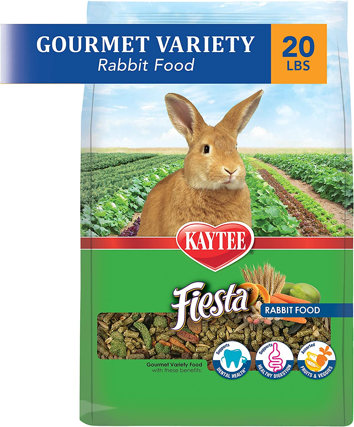 Kaytee Fiesta Rabbit Food, 20 Pounds