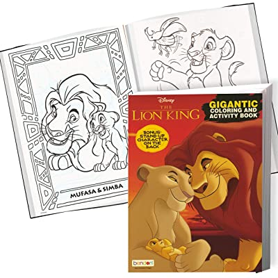 Buy Disney Lion King Coloring Book And Stickers Gift Set - Bundle Includes  Gigantic 192 Pg Coloring Book With Stickers In Specialty Gift Bag (Lion King)  Online In Indonesia. B07S6PSL9K