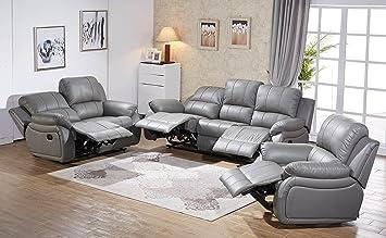 Voll-Leder-Relax Fernsehsofas-Polsterm/öbel-Sessel Fernsehsessel 5129-3+2+1-206