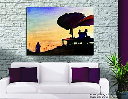 Tamatina tela pittura - offre preghiere - Holy River Ganga - dipinti ...