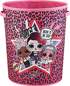 LOL Surprise Circular Storage Bin with Handles, Pink