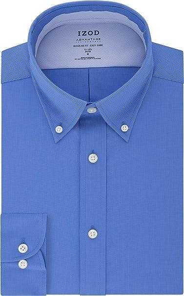 Choose SZ//color IZOD Men/'s Dress Shirt Regular Fit Stretch Check