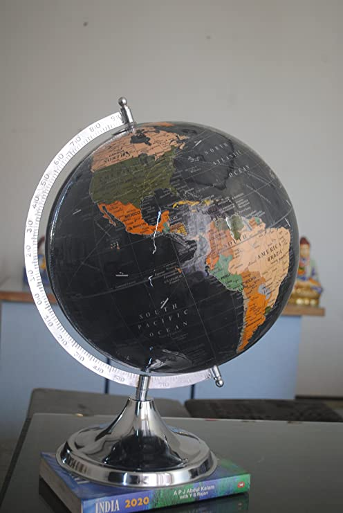 Amazon the world globe large desktop atlas with stand a the world globe large desktop atlas with stand a rotating earth with oceans gumiabroncs Choice Image