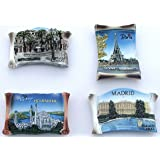 Arrison Fridge Magnet, Decoration for Your Fridge Cute Countries Theme (4Pc Set)