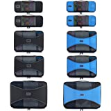Pro Packing Cubes 10 Piece Lightweight Travel Cube Set of Compression Organizers