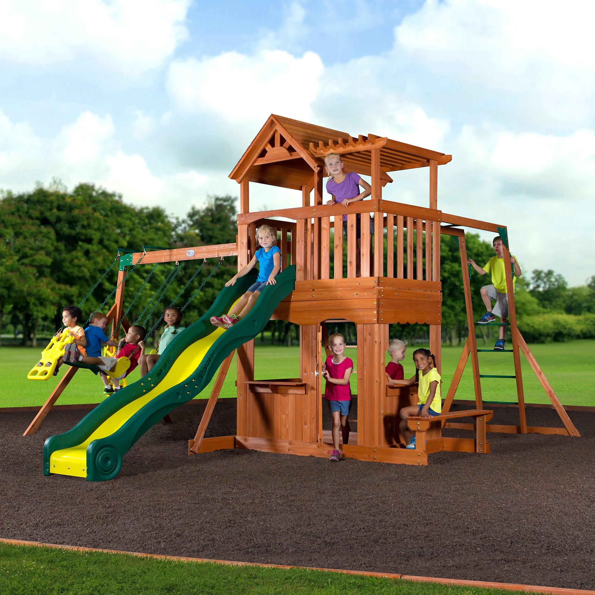 Backyard Discovery Thunder Ridge All Cedar Wood Playset Swing Set by Backyard Discovery (Image #6)