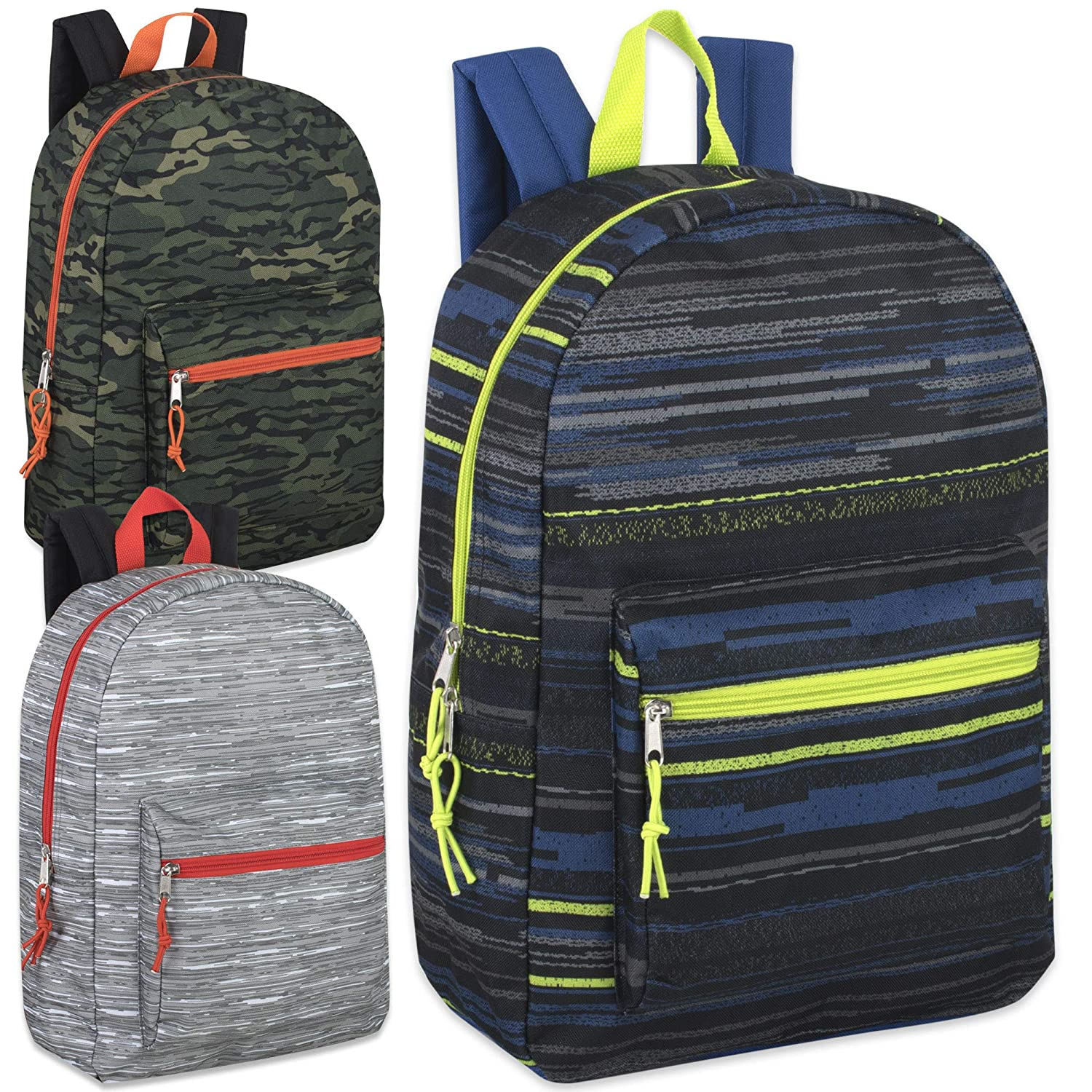 Hiking Camping Camouflage Travel Trailmaker Boys Printed 17 Inch Backpack with Pencil Pouch for School