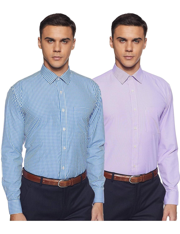 Symbol Men's Formal Shirt (Combo Pack of 2)