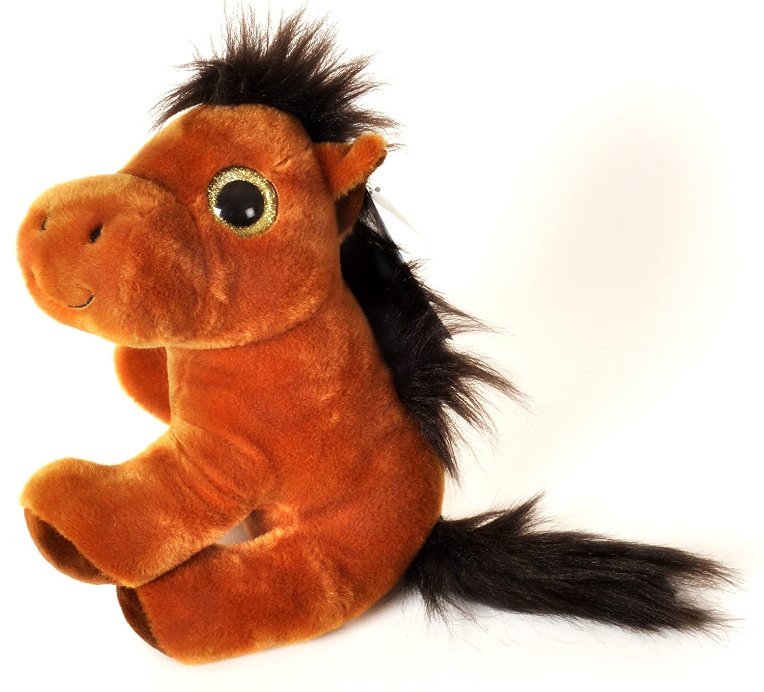 Amazon.com: ANIMALS ON THE FARM - Plush Toy Horse with shiny eyes (10