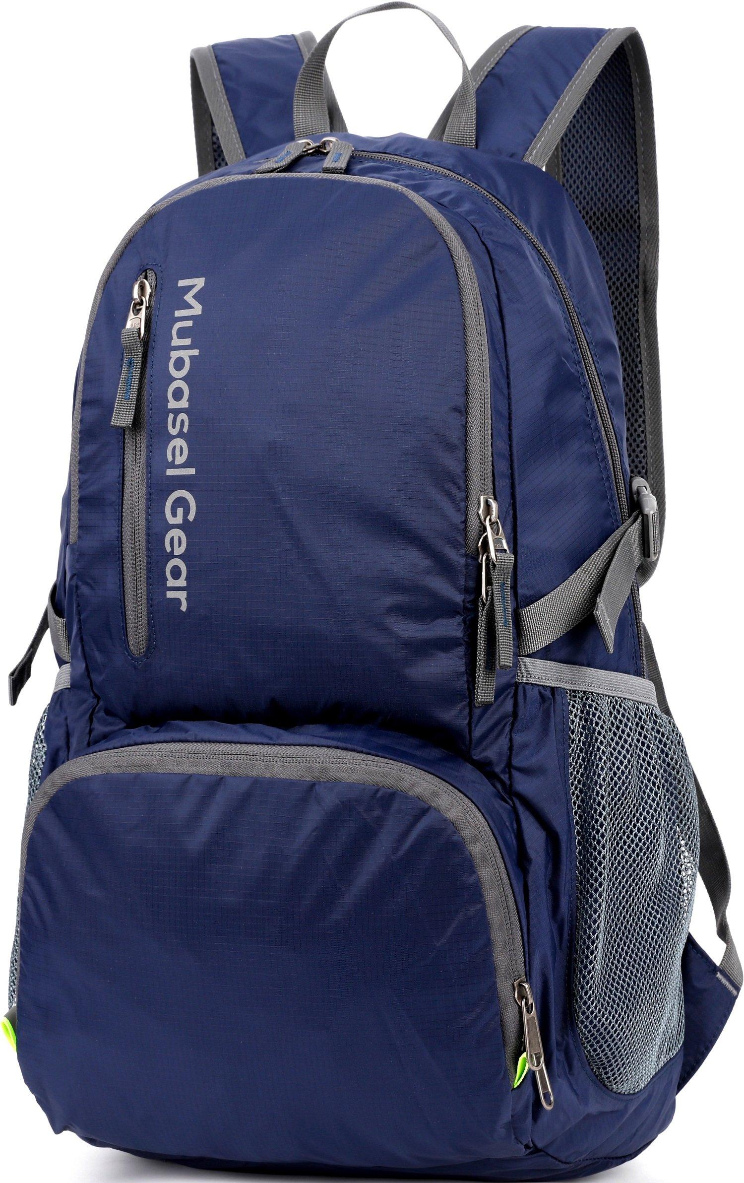 Mubasel Gear Backpack - Lightweight Backpacks for Travel Hiking - Daypack for Women Men (Navy)