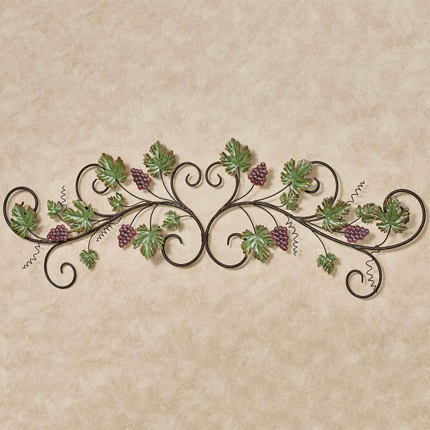 Touch of Class Vining Grapes Decorative Scroll Wall Topper Sangria 43 Inches Wide