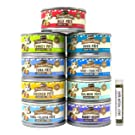 Merrick Purrfect Bistro Pate Canned Cat Food Variety Pack - 9 Flavors (Chicken, Duck, Tuna, Salmon, Rabbit, Tuna & Tilapia, Beef, Turkey, & Surf + Turf) - 3 Ounces Each (18 Total Cans)