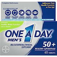 One A Day Men's 50+ Healthy Advantage Multivitamin, 65 Count