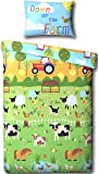 Farmyard Animals Junior Bed/Toddler Bed Duvet Cover Bed Set - Including Matching Pillowcase