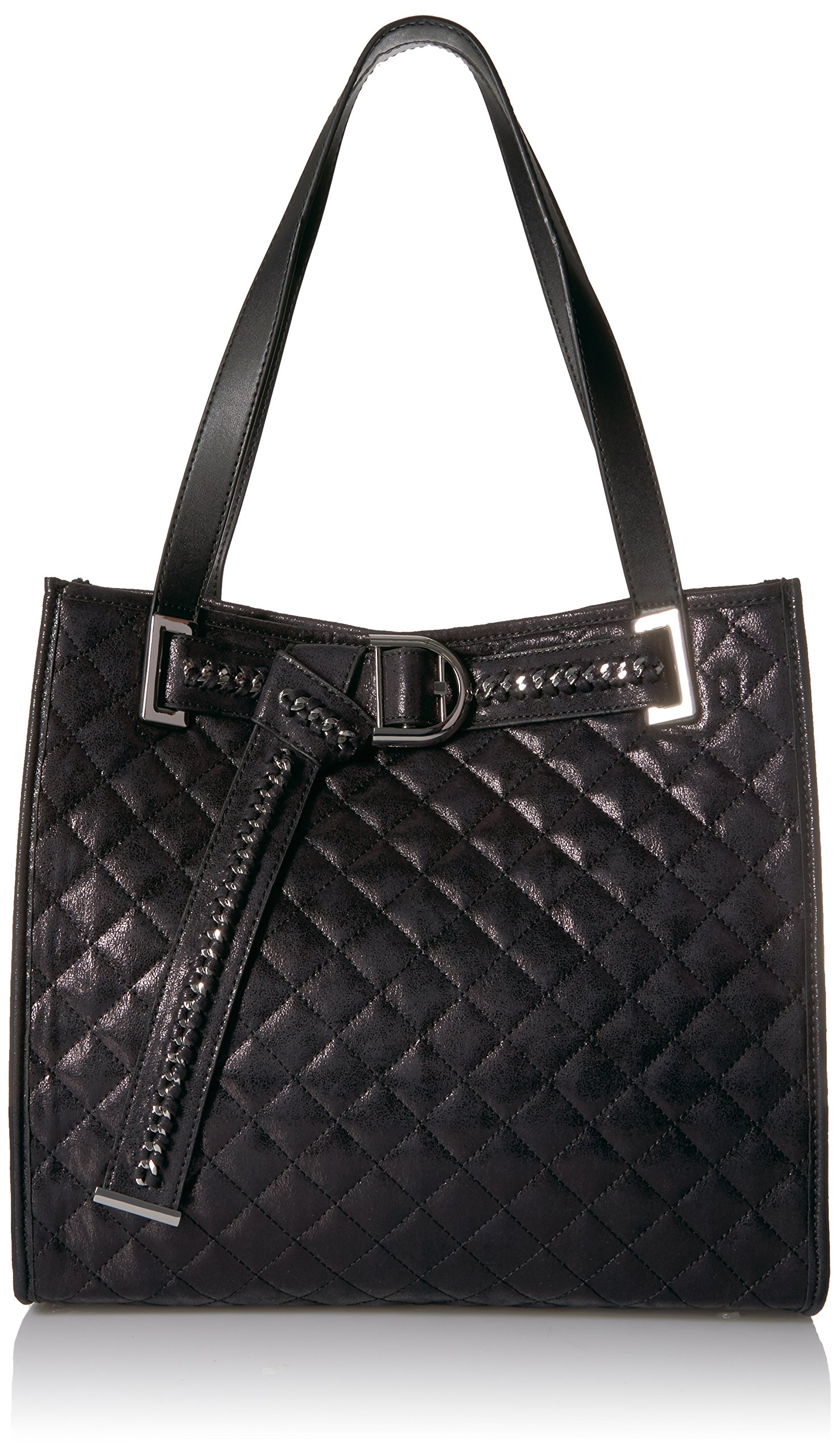 Calvin Klein Nola Quilted Distressed Belted Tote
