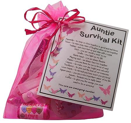 Auntie Kit de supervivencia (gran regalo para cumpleaños ...