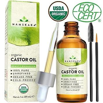 e78d7faec25 Organic Castor Oil - USDA Certified Organic 100% Pure, Cold-Pressed, Extra