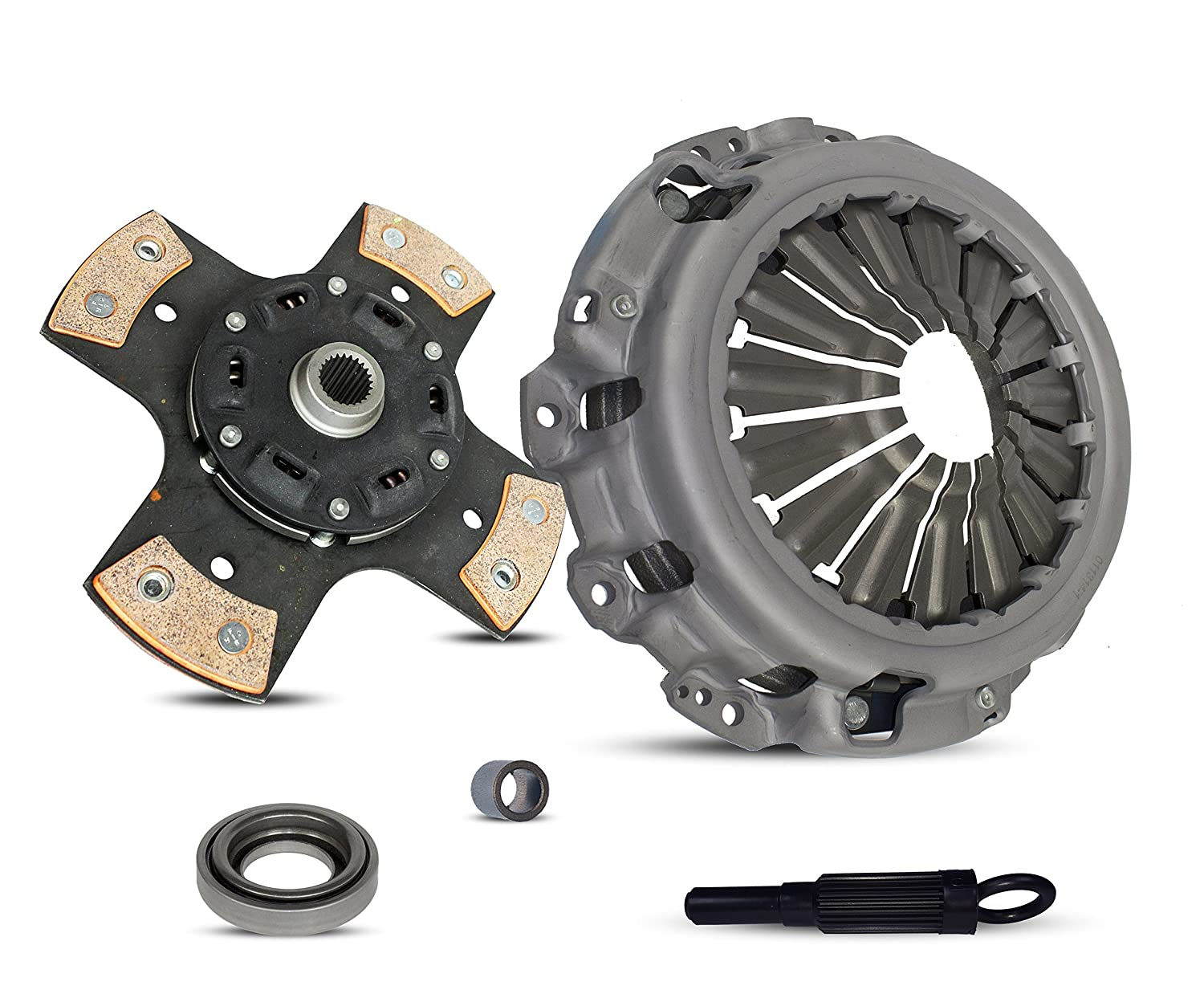 3.5L ALL MODELS; VQ35DE; 6 Speed Trans; 4-Puck Clutch Disc Stage 2 Clutch Kit Works With Nissan 350Z Infiniti G35 Base Sport Journey X Grand Touring 2003-2007 3.5L V6 GAS DOHC Naturally Aspirated