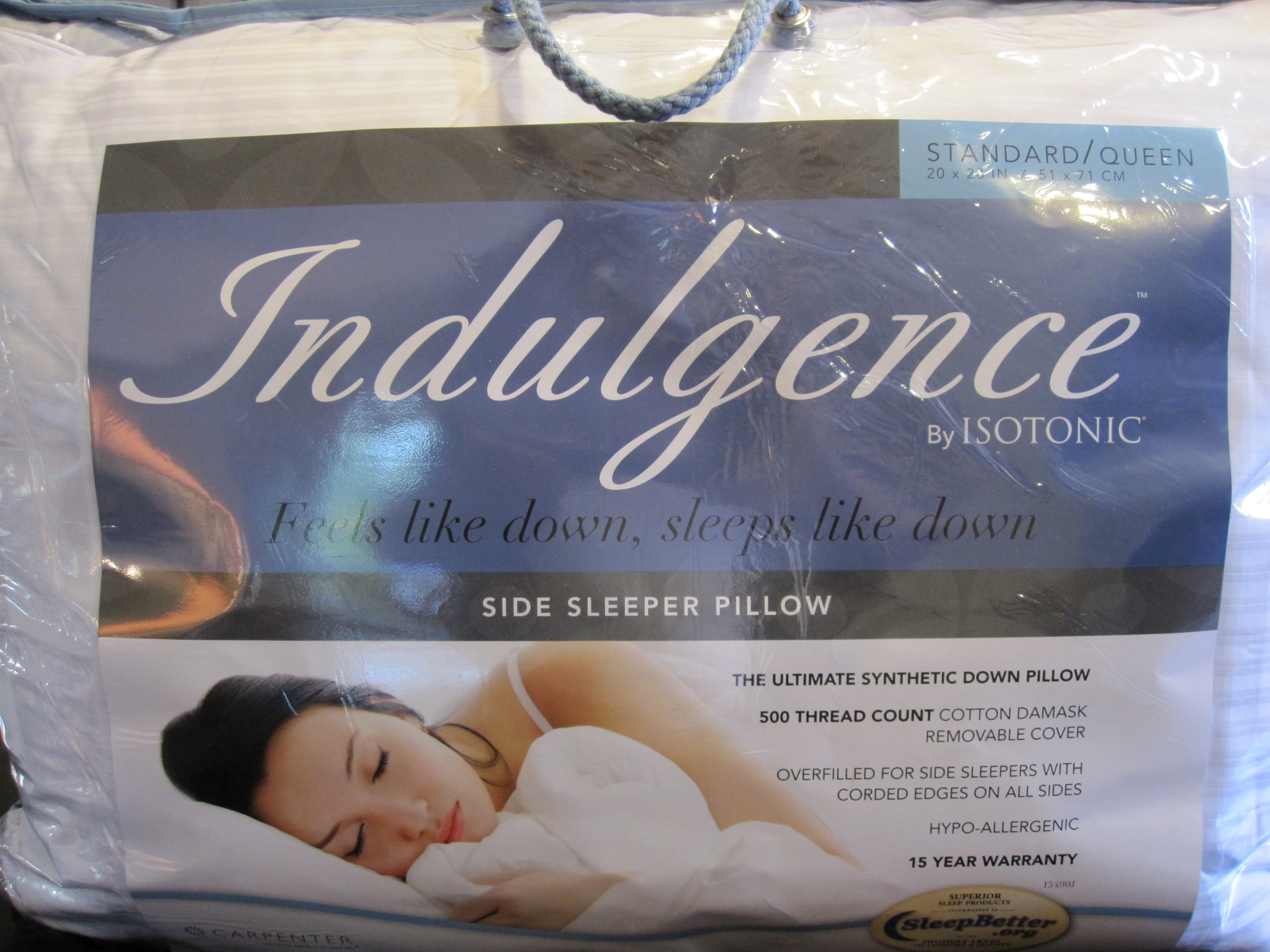 Indulgence Standard/Queen Side Sleeper Pillow by Isotonic 28''x20''