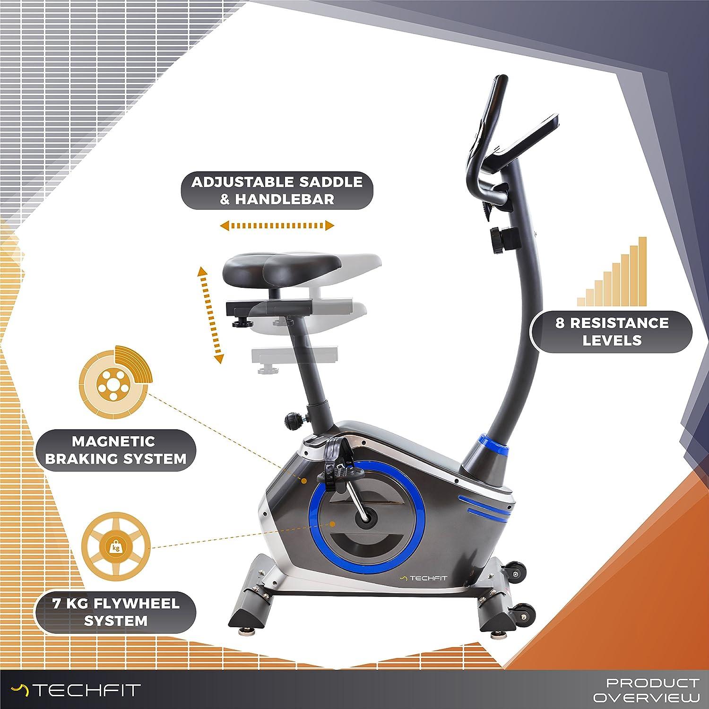 TechFit Unisex/ Erwachsene B410-TECHFIT Fitnessbikes grau One Size