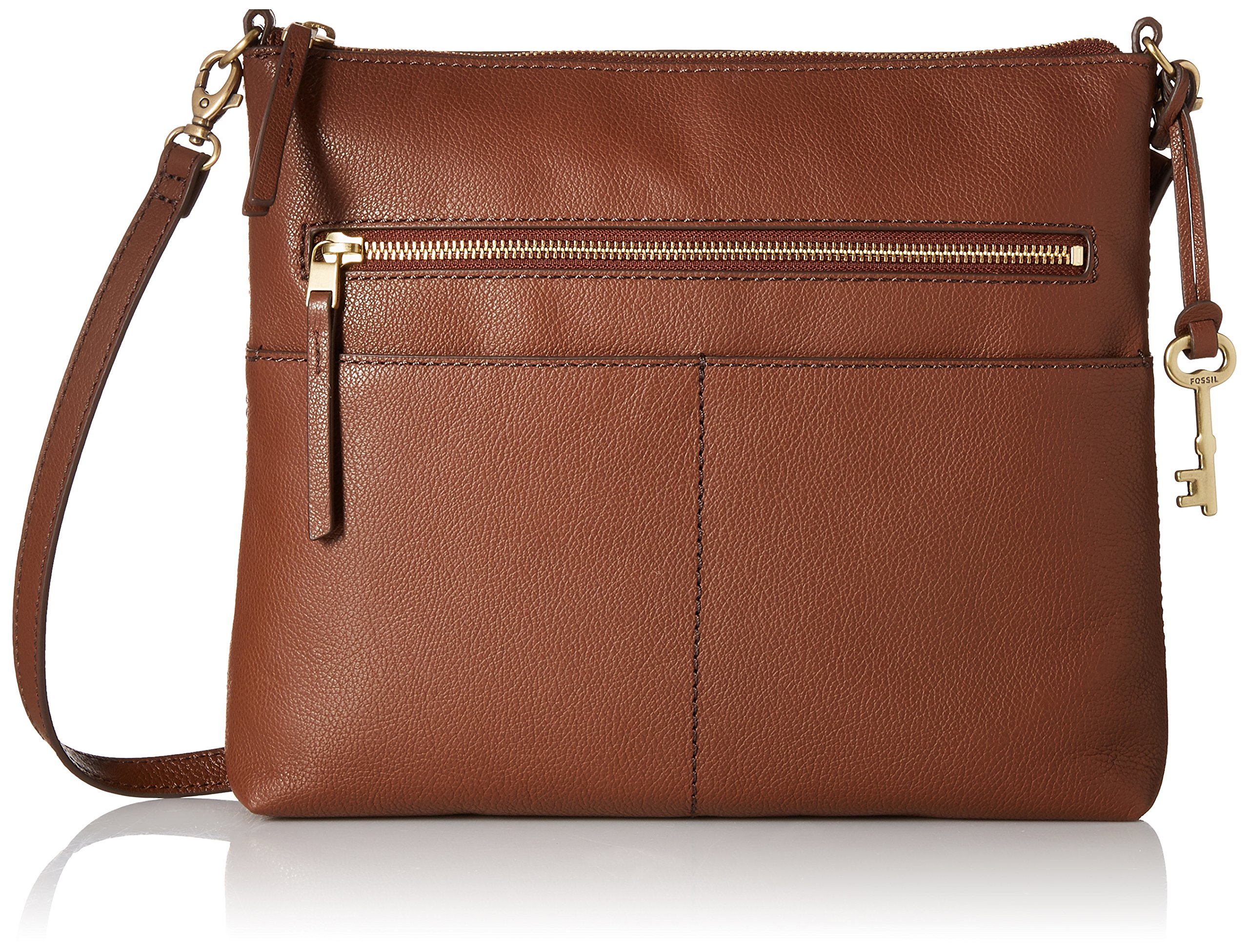 Fossil Fiona Large Crossbody, medium brown, One Size