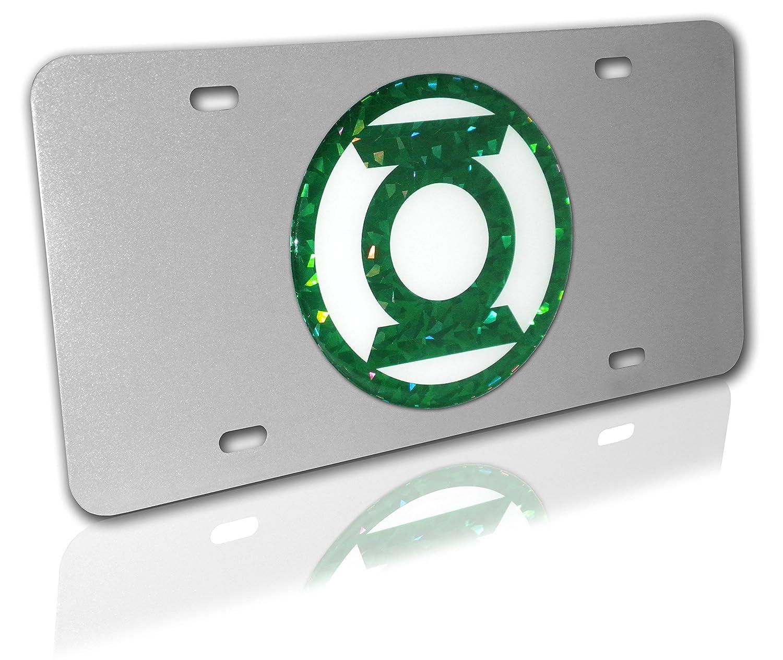 Open Version Elektroplate Green Lantern DC Comics Metal License Plate Frame