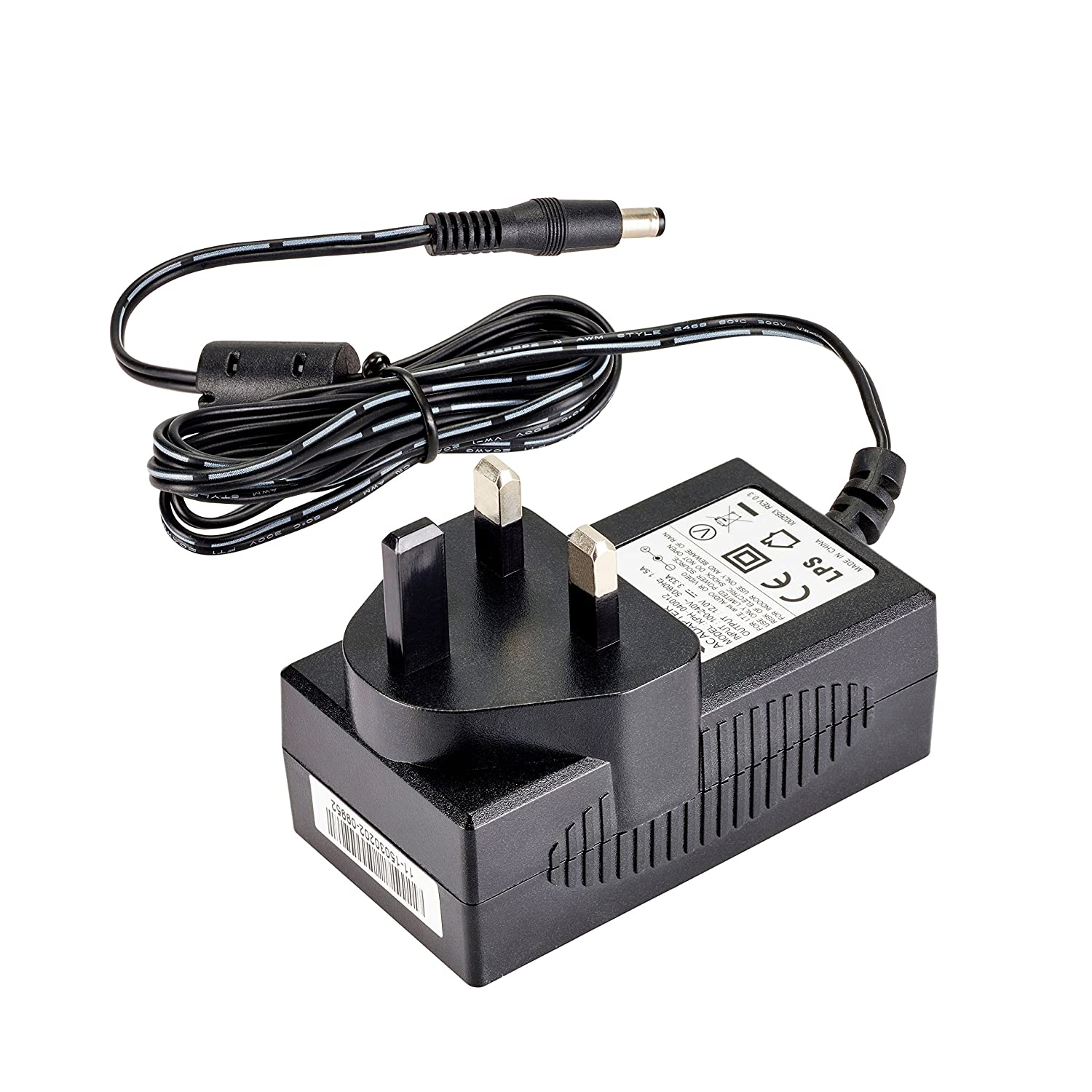 12v Mains 3a 36w ac/dc replacement power PSU for PURE Contour 100Di iPhone dock with UK mains cable and plug DTDC002