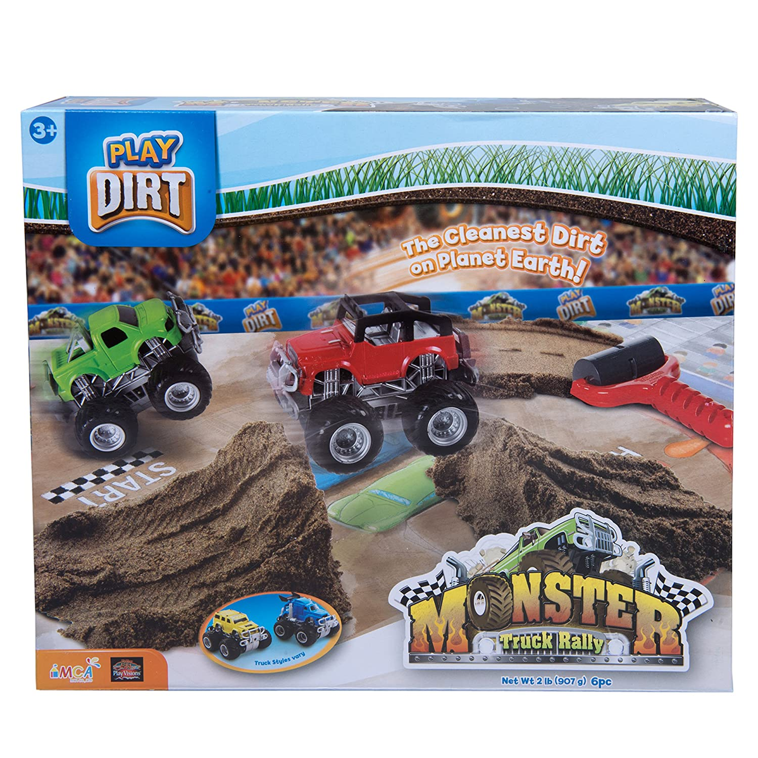 amazon com play dirt monster truck rally unique play dirt for