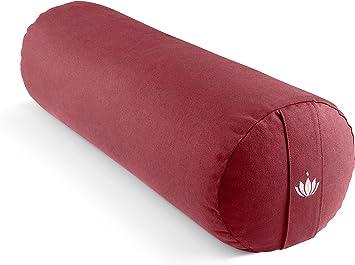Waschbarer Bezug aus Baumwolle GOTS Zertifiziert Yoga Bolster Rolle f/ür Restorative Yoga Yoga Rolle mit Dinkelf/üllung Special Edition Lotuscrafts Yogarolle f/ür Yin Yoga /Ø24 cm