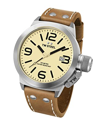c6156b9cbaa4 Amazon.com  TW Steel Men s CS12 Analog Display Quartz Brown Watch ...