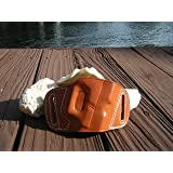 Quick Slide Holster Brown Leather OWB For Glock 17 19 22 23 26 27