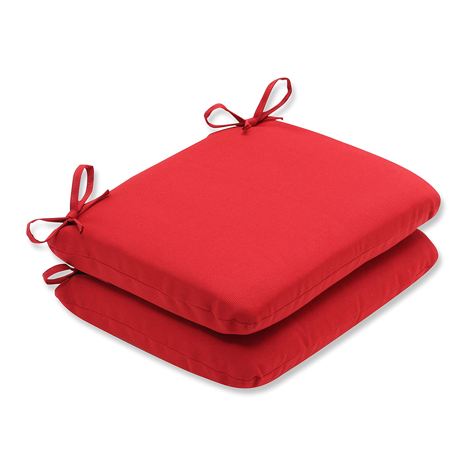 Amazon Pillow Perfect Indoor Outdoor Red Solid Seat Cushion