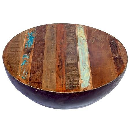 Porter Designs SBA-5437 Thrum Wood Copper Round Coffee Table
