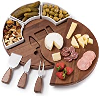 Shanik Upgraded Cheese Cutting Board Set, Acacia Wood Charcuterie Board Set, Cheese Serving Platter, Perfect Meat…