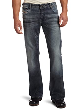amazon com diesel men s zathan regular bootcut jean 0885k denim