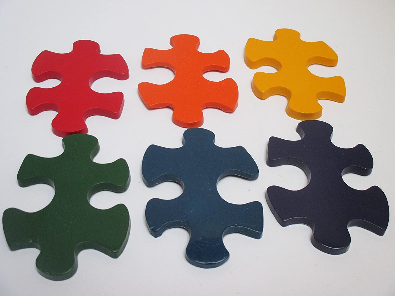autism awareness party favors Puzzle piece crayons goody bags