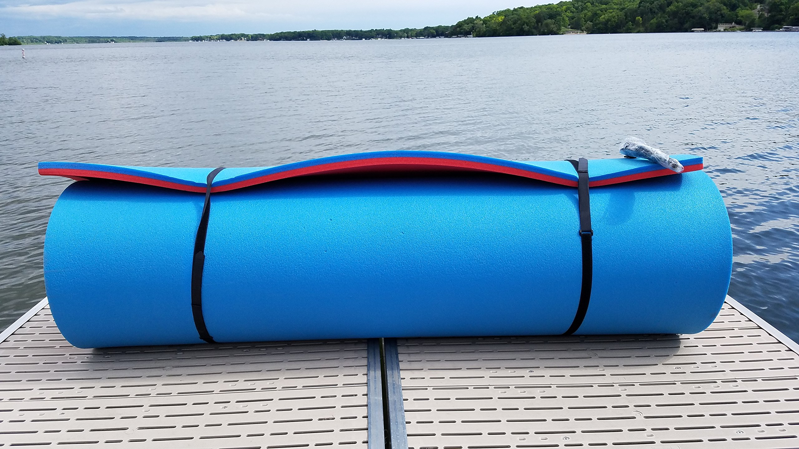 Vico Marine Floating Foam Pad - Red/Blue