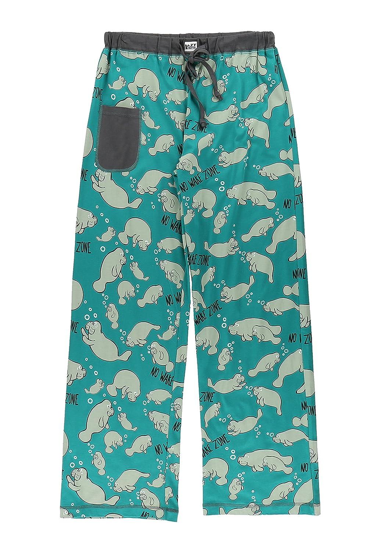 LazyOne Damen Tailliert No Wake Zone Manatee Pyjama-Hosen Lazy one WPP317