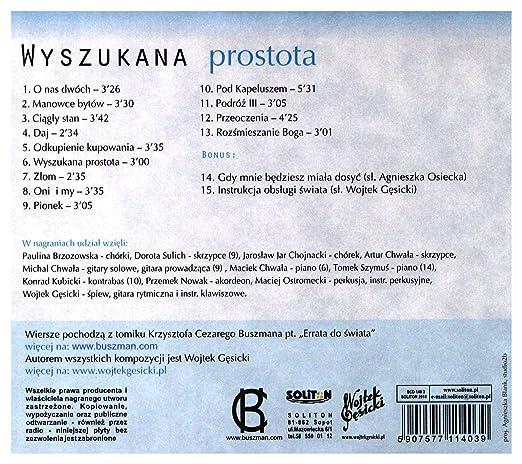 Amazoncom Wyszukana Prostota Songs To Poems By Krzysztof