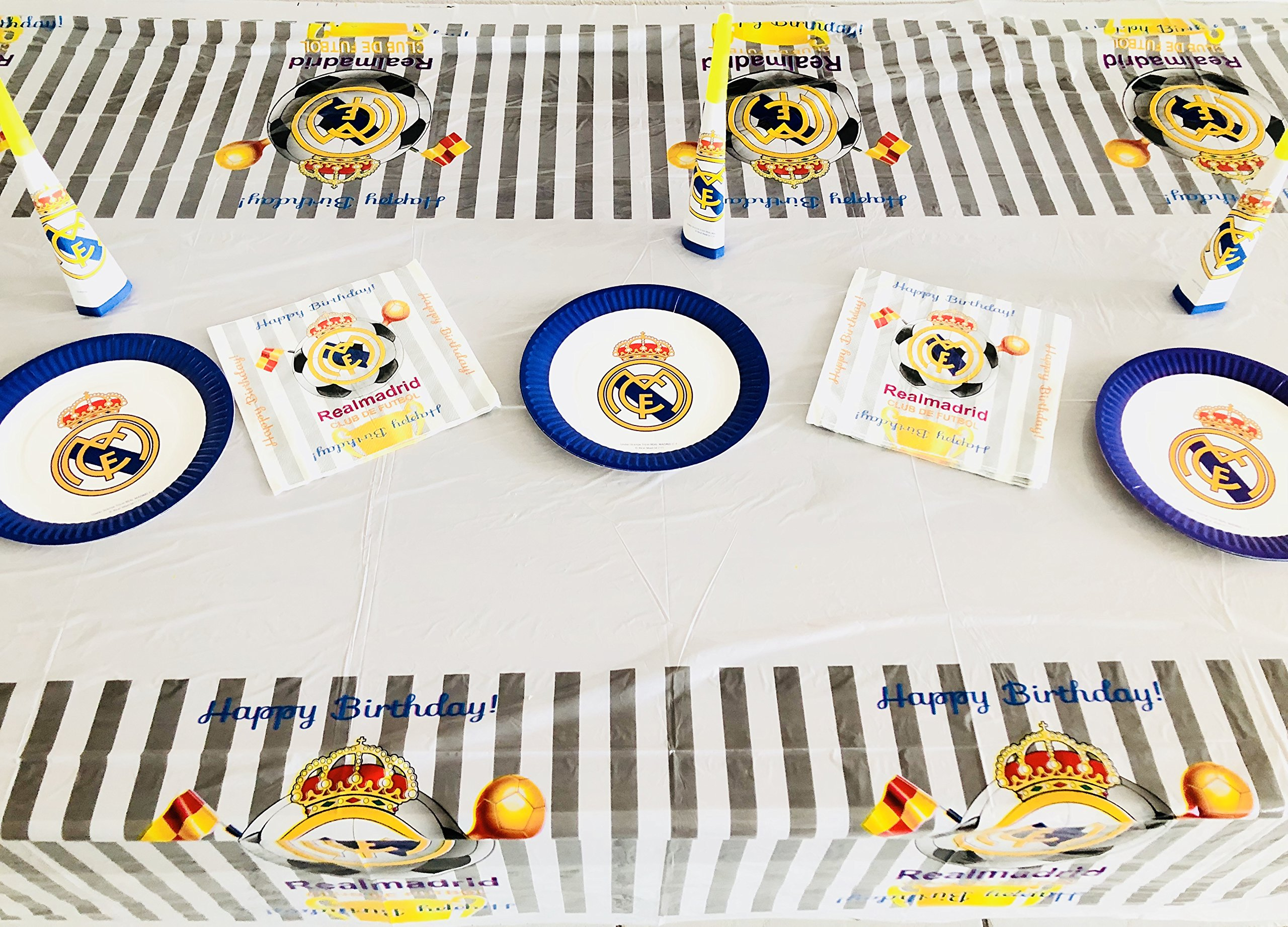 Amazon Com Real Madrid Fc Birthday Party Decoration Table Cloth