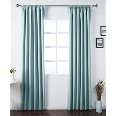 AmazonBasics Blackout Curtain Set - 42  x 84 , Seafoam Green