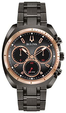 aed2c472f Image Unavailable. Image not available for. Color: Bulova Men's Curv  Collection Analog-Quartz Watch with Stainless-Steel ...