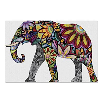Elephant Mandala Illustration 9008901 (Premium 1000 Piece Jigsaw Puzzle for Adults, 20x30, Made in USA!): Toys & Games