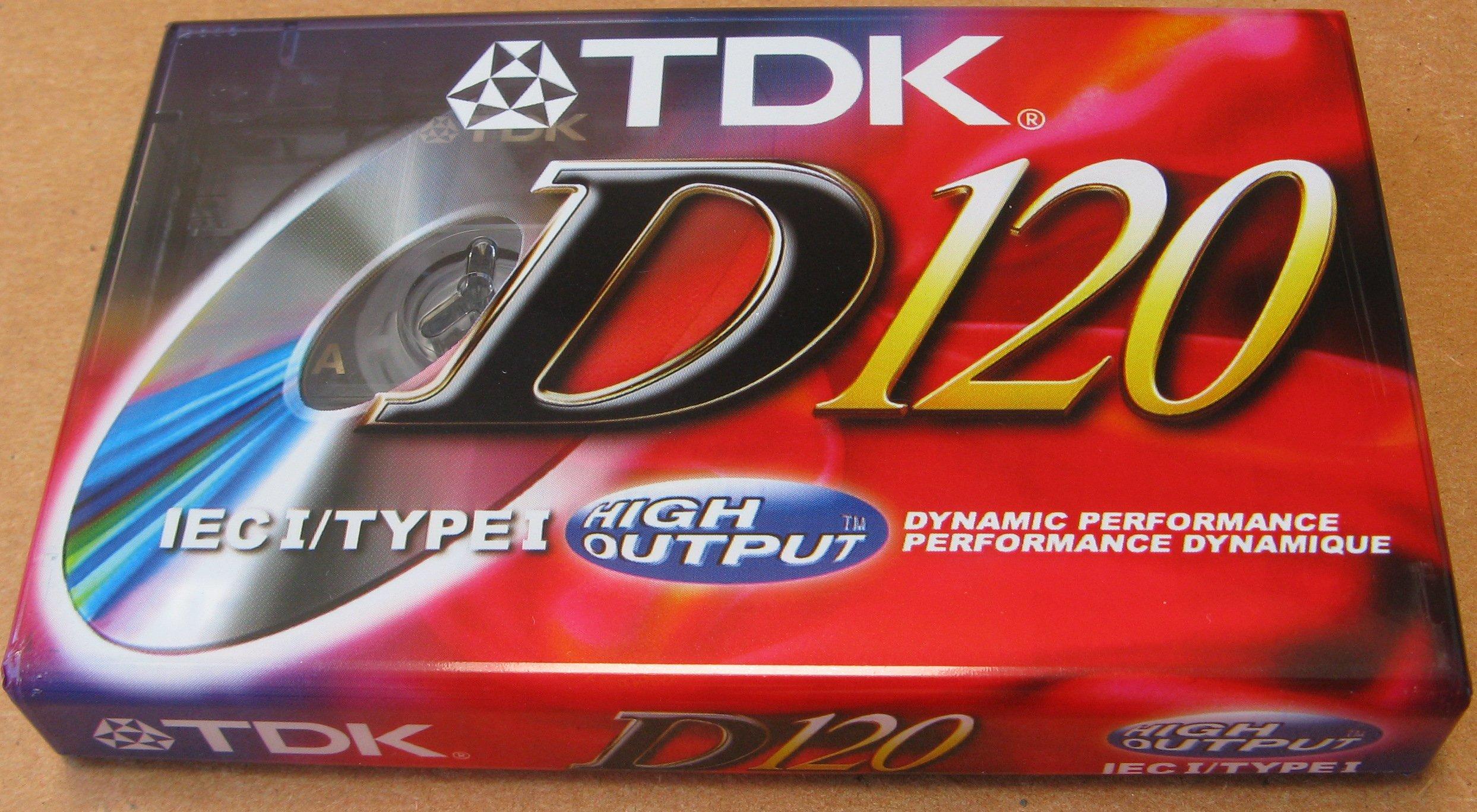 D5012 TDK D120 IEC I/Type I Dynamic Performance High Output Audio Cassette Tape